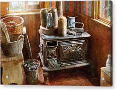 Stove - Remember The Good Ol Days When  Acrylic Print by Mike Savad