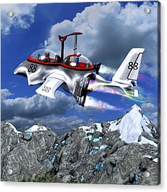 Stowing The Lift Acrylic Print by Dave Luebbert