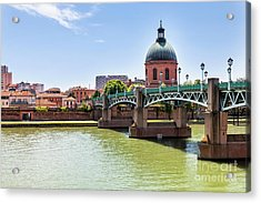 Acrylic Print featuring the photograph St.pierre Bridge In Toulouse by Elena Elisseeva