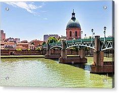 St.pierre Bridge In Toulouse Acrylic Print by Elena Elisseeva