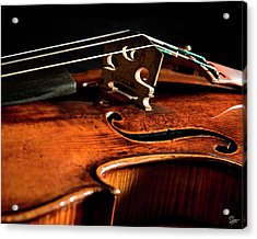 Stradivarius Acrylic Print by Endre Balogh
