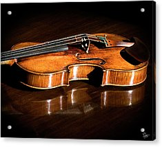 Stradivarius In Sunlight Acrylic Print by Endre Balogh