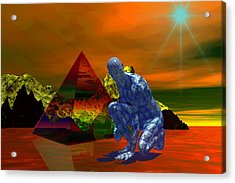 Acrylic Print featuring the digital art Stranger In A Strange Land by Shadowlea Is