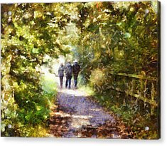 Strangers On A Footpath / In To The Light Acrylic Print