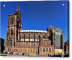 Strasbourg Catheral Acrylic Print by Alan Toepfer