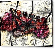 Strat Abstracta No. 6c  Acrylic Print by Gary Bodnar