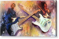 Strat Brothers Acrylic Print by Andrew King