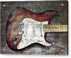 Strat Guitar Fantasy Acrylic Print by Mal Bray