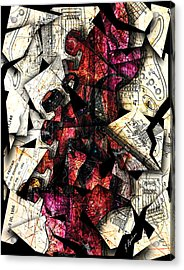 Stratavaria Moderna 01 Acrylic Print by Gary Bodnar