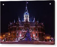 Stratford City Hall Christmas Acrylic Print