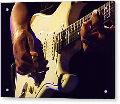 Stratocaster Blues Acrylic Print by Steve Pimpis
