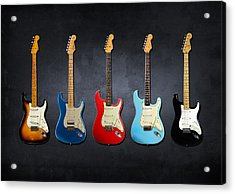 Stratocaster Acrylic Print by Mark Rogan