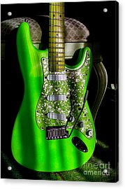 Stratocaster Plus In Green Acrylic Print
