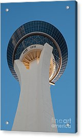 Stratosphere Tower Up Close Acrylic Print by Andy Smy