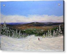 Stratton Ski Trail Acrylic Print