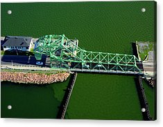 Strauss Trunnion Bascule Lift Bridge Acrylic Print by Paul Wash