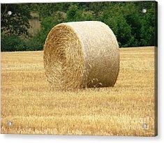 Straw Bale Acrylic Print