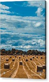 Straw Bales In A Field 2 Acrylic Print