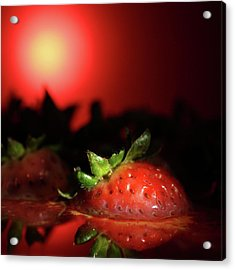 Strawberries In Motor Oil Acrylic Print
