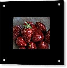 Strawberries Acrylic Print by Marija Djedovic