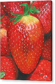 Acrylic Print featuring the painting Strawberries by Nancy Nale