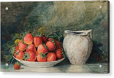 Strawberries Acrylic Print by Celestial Images