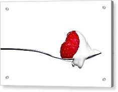 Strawberry And Cream Acrylic Print by Gert Lavsen