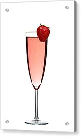 Strawberry Champagne Acrylic Print by Gert Lavsen