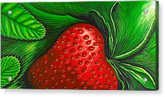 Strawberry Acrylic Print by David Junod