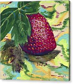 Strawberry Acrylic Print by Davis Elliott