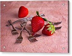 Strawberry Delight Acrylic Print by Tom Mc Nemar