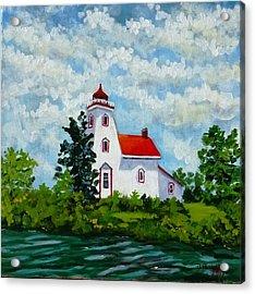 Strawberry Island Lighthouse, Manitoulin Island Acrylic Print