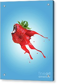 Acrylic Print featuring the photograph Strawberry by Juli Scalzi