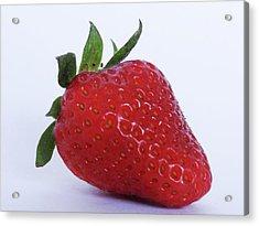 Strawberry Acrylic Print by Julia Wilcox