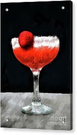 Acrylic Print featuring the photograph Strawberry Margarita by Lois Bryan