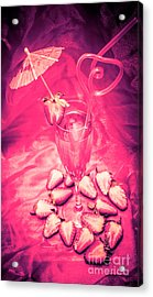 Strawberry Martini In Pink Light Acrylic Print by Jorgo Photography - Wall Art Gallery