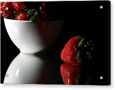 Strawberry Acrylic Print by Michael Ledray