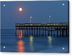 Strawberry Moon Over Sandbridge Acrylic Print