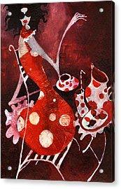 Strawberry Shake Acrylic Print by Maya Manolova