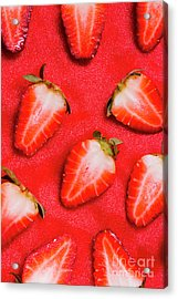 Strawberry Slice Food Still Life Acrylic Print by Jorgo Photography - Wall Art Gallery