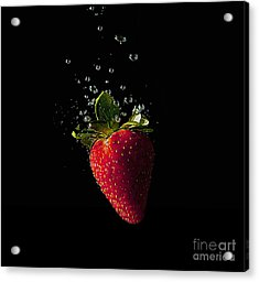 Strawberry Splash Acrylic Print
