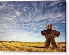 Strawman On The Prairies Acrylic Print
