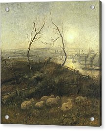 Strayed, A Moonlight Pastoral, 1878 Acrylic Print