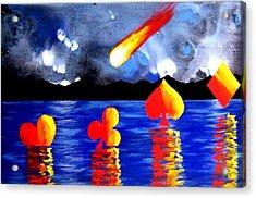 Streaking Comet Poker Art Acrylic Print by Teo Alfonso