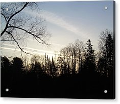 Acrylic Print featuring the photograph Streaks Of Clouds In The Dawn Sky by Kent Lorentzen
