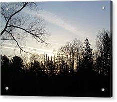 Streaks Of Clouds In The Dawn Sky Acrylic Print by Kent Lorentzen