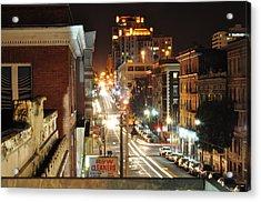 Streaks Of San Francisco Acrylic Print by Greg McDonald