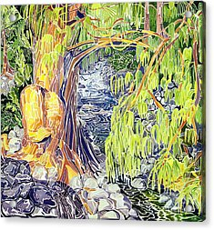 Stream At Laupahoehoe Acrylic Print by Fay Biegun - Printscapes