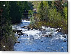 Stream In Spring Acrylic Print