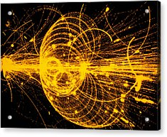 Streamer Chamber Photo Of Particle Tracks Acrylic Print by Cern